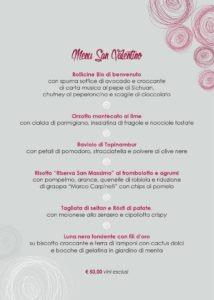 retro menu San Valentino