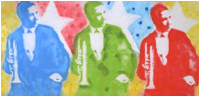 Franck Denota - Nick La Rocca - olio e spray su tela 100x200