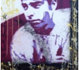 Frank Denota - Joe Di Maggio - olio e spray su tela cm. 100x150