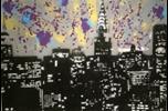 Frank Denota - Manhattan - olio e spray su tela cm. 50x70