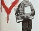 Frank Denota - Paper boy -serigrafia su carta cm. 50x40