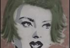 Frank Denota - Sophia Loren - olio e spray su tela cm. 90x90