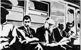 Frank Denota - Subway - serigrafia su carta cm. 50x70